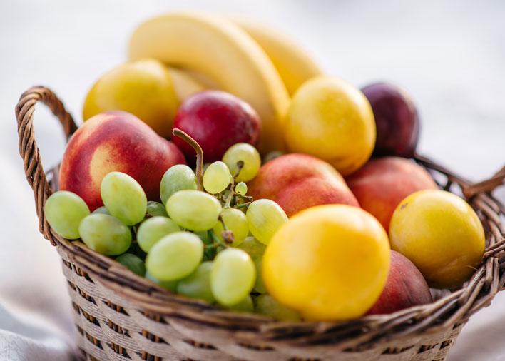 Livraison de corbeilles de fruits au travail